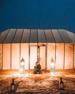 Luxury Desert Camp in the Sahara, Morocco on a budget