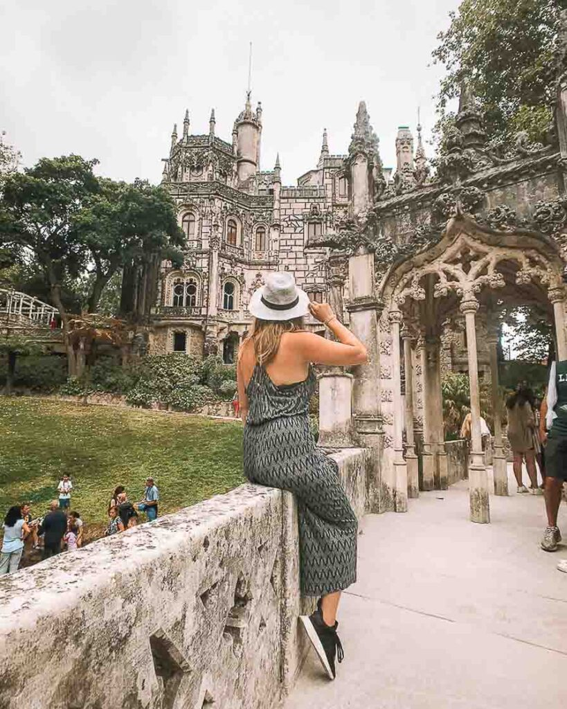 Girl in front of castle in Sintra