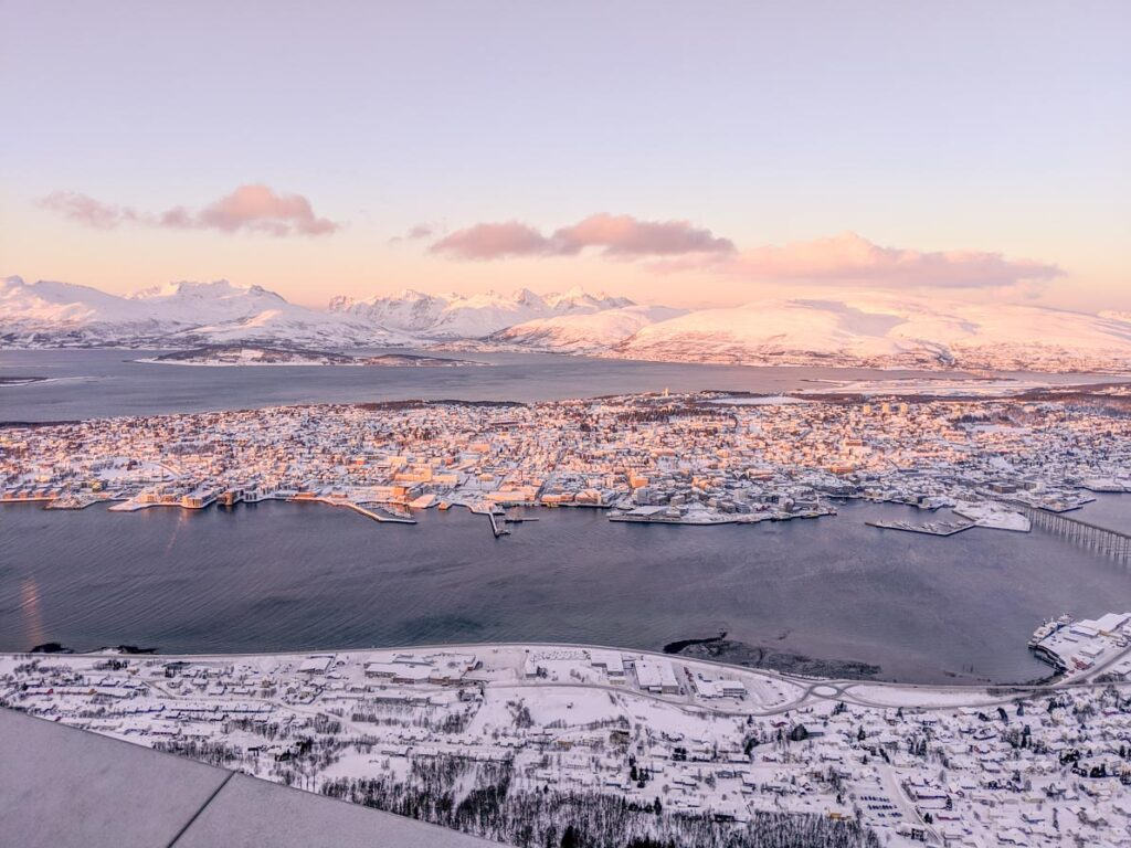 Tromso cable car view