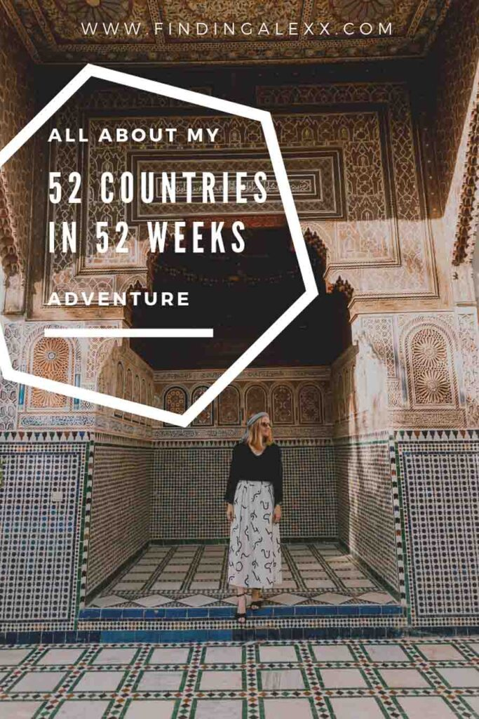 52 countries in 52 weeks pin