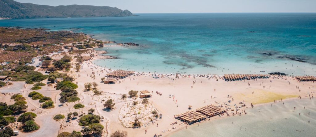 Elafonissi Beach travel photo by drone