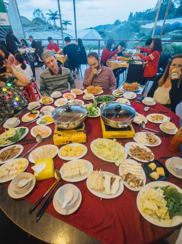 Steamboat dinner in Cameron Highlands Malaysia