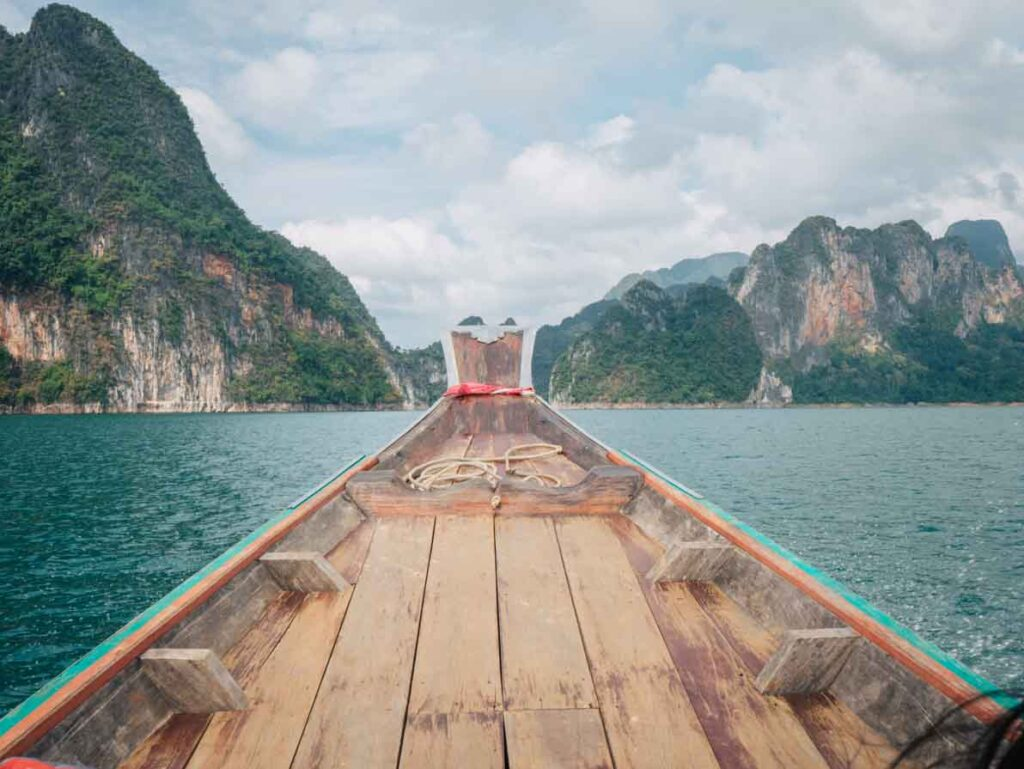 Longtail boat in Thailand Contiki