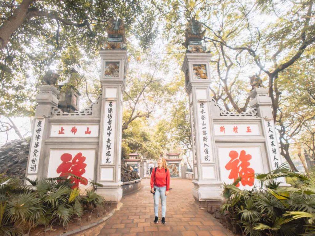 Hanoi pagoda 3 week Vietnam itinerary