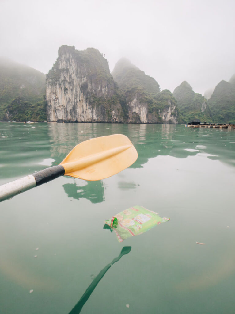 Rubbish in Halong Bay