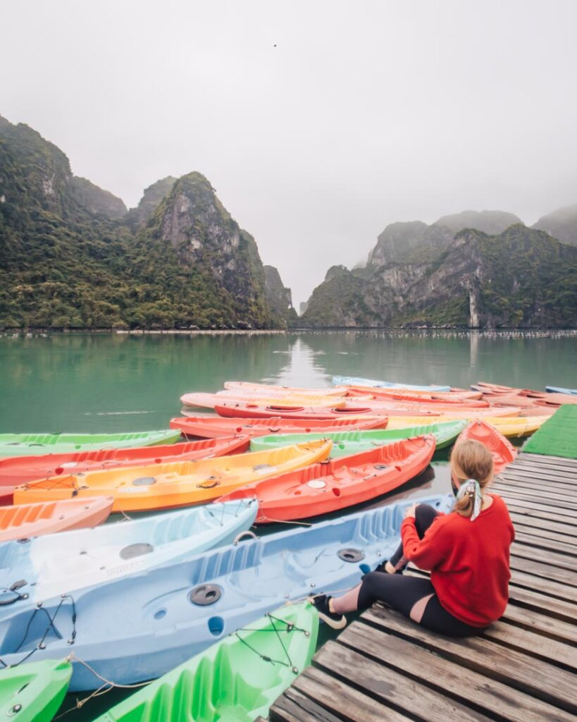 Halong Bay kayaks