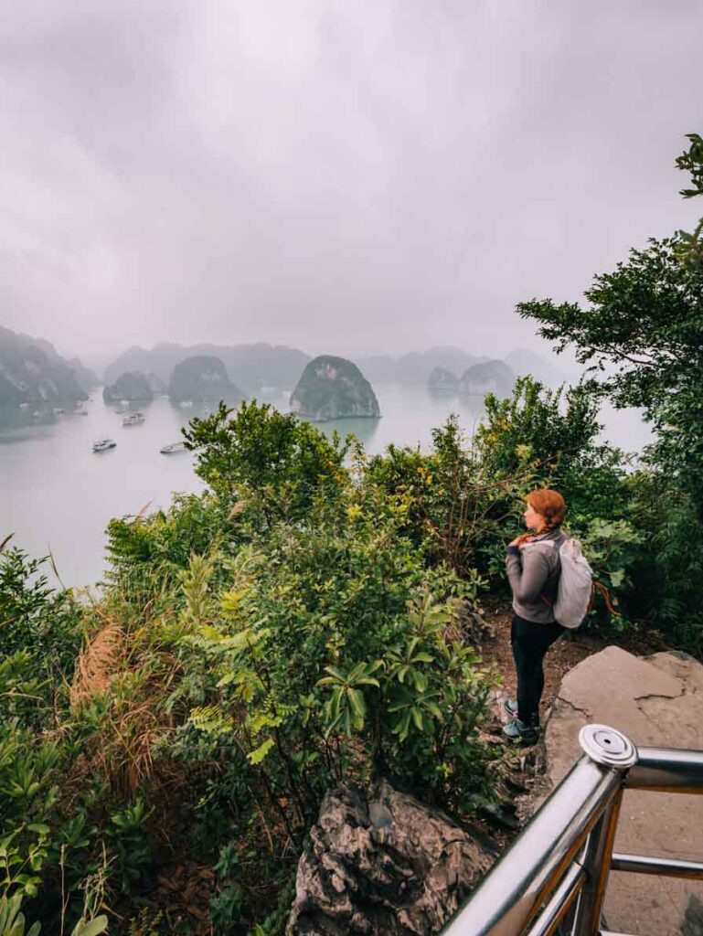 Halong Bay cave walk view