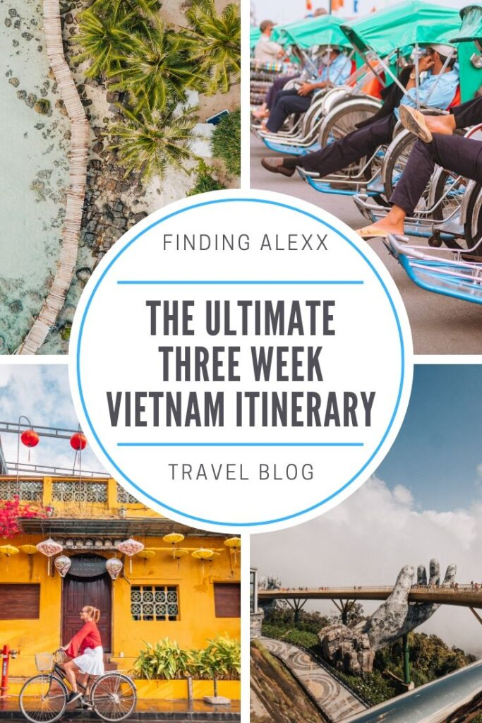 3 week Vietnam itinerary pin