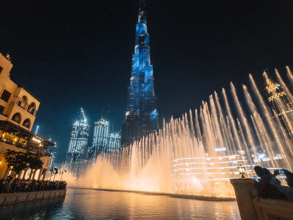 Burj Khalifa fountain show