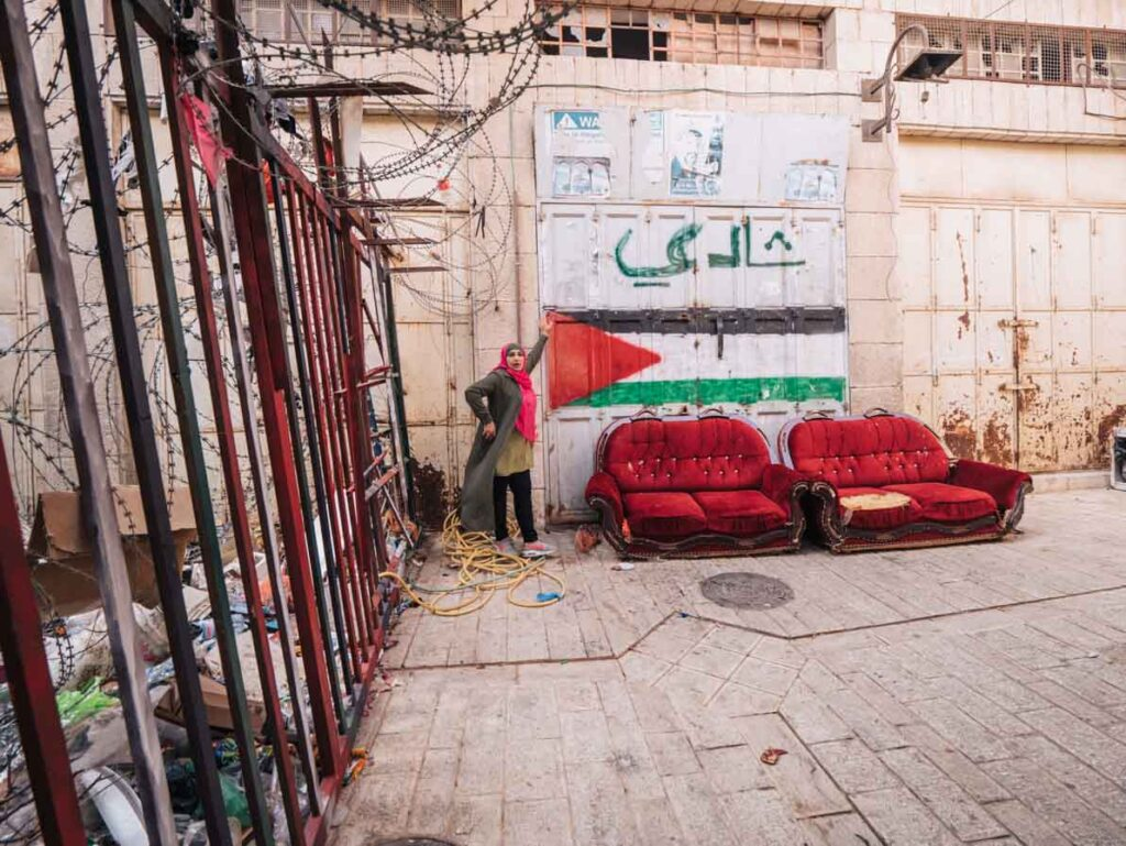 Street in Hebron in the West Bank