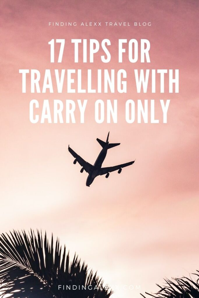 Carry on only travel pin