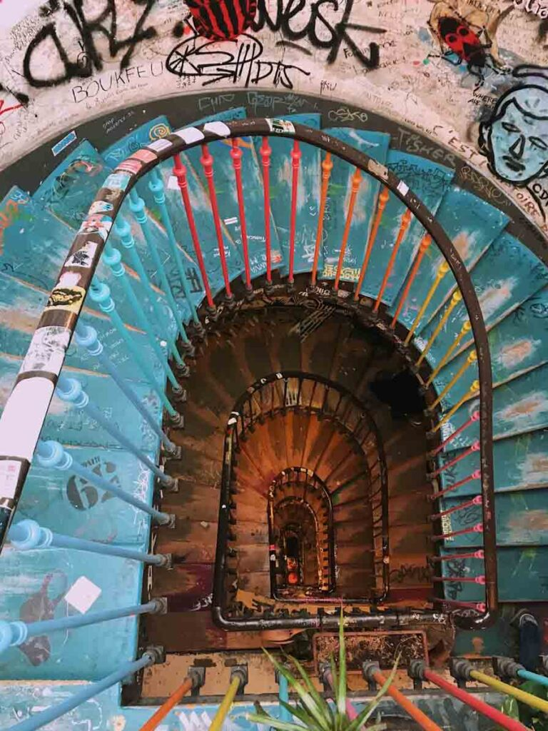 Graffiti staircase in Paris