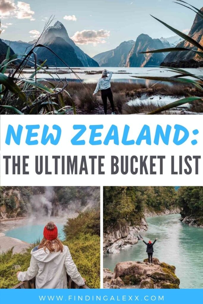 ultimate new zealand bucket list pin