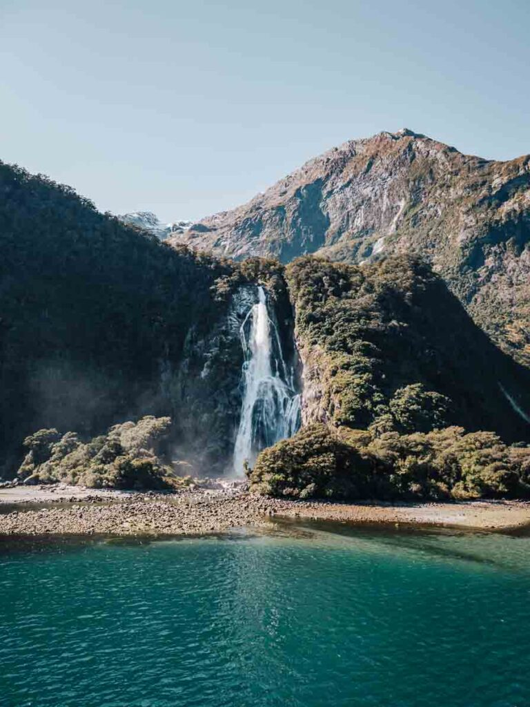 lady bowen falls in milford sound