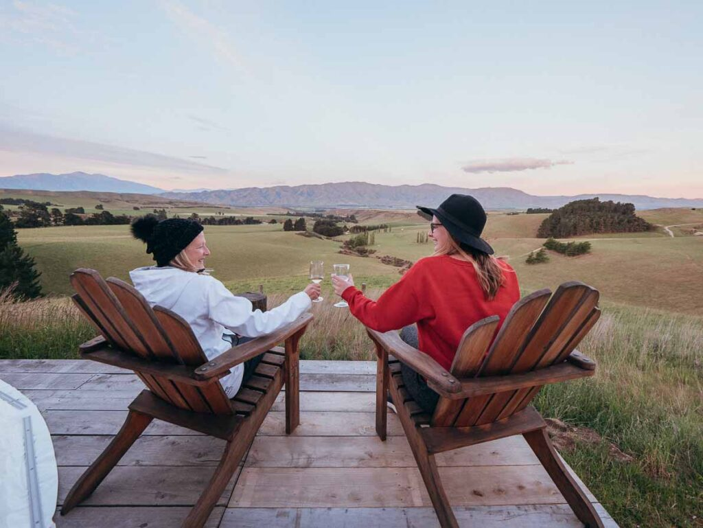 glamping in new zealand valley views