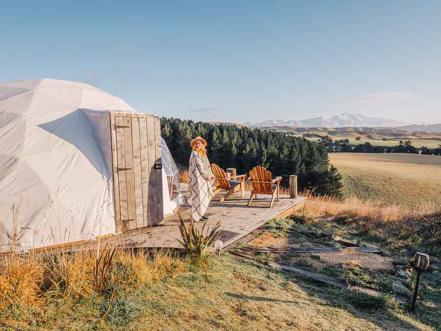 glamping in new zealand at valley views