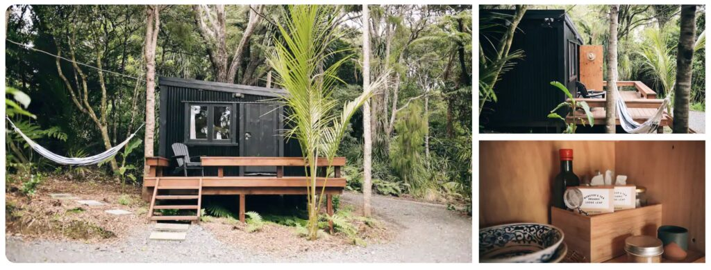 glamping in new zealand airbnb tiny house piha