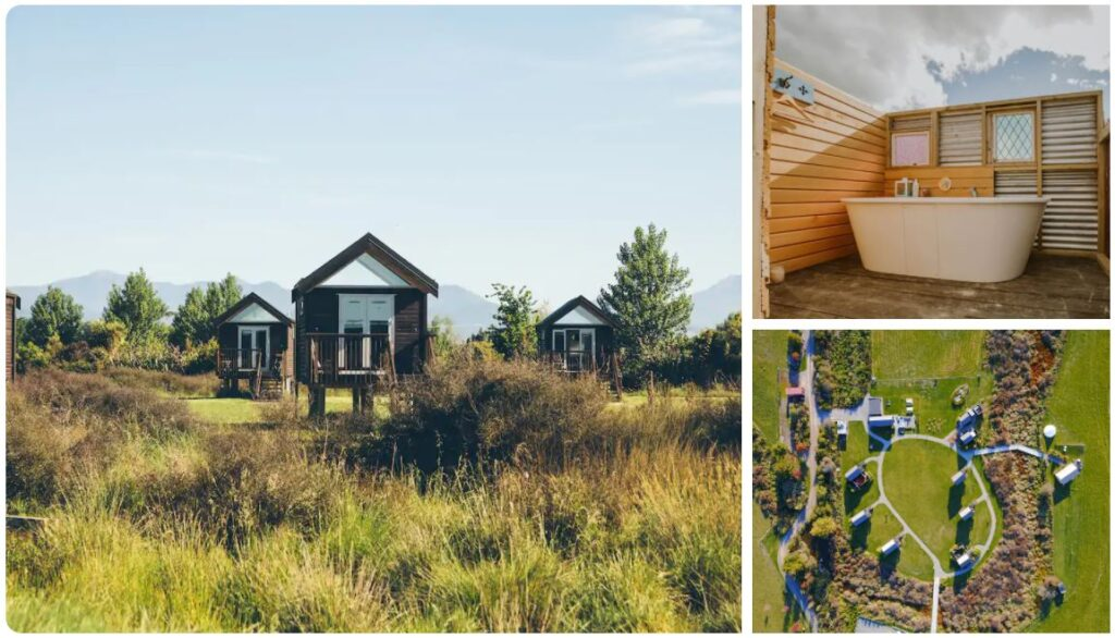 rabbit island huts glamping in nelson