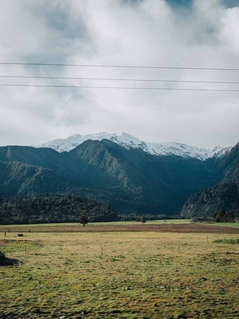 southern alps from franz josef