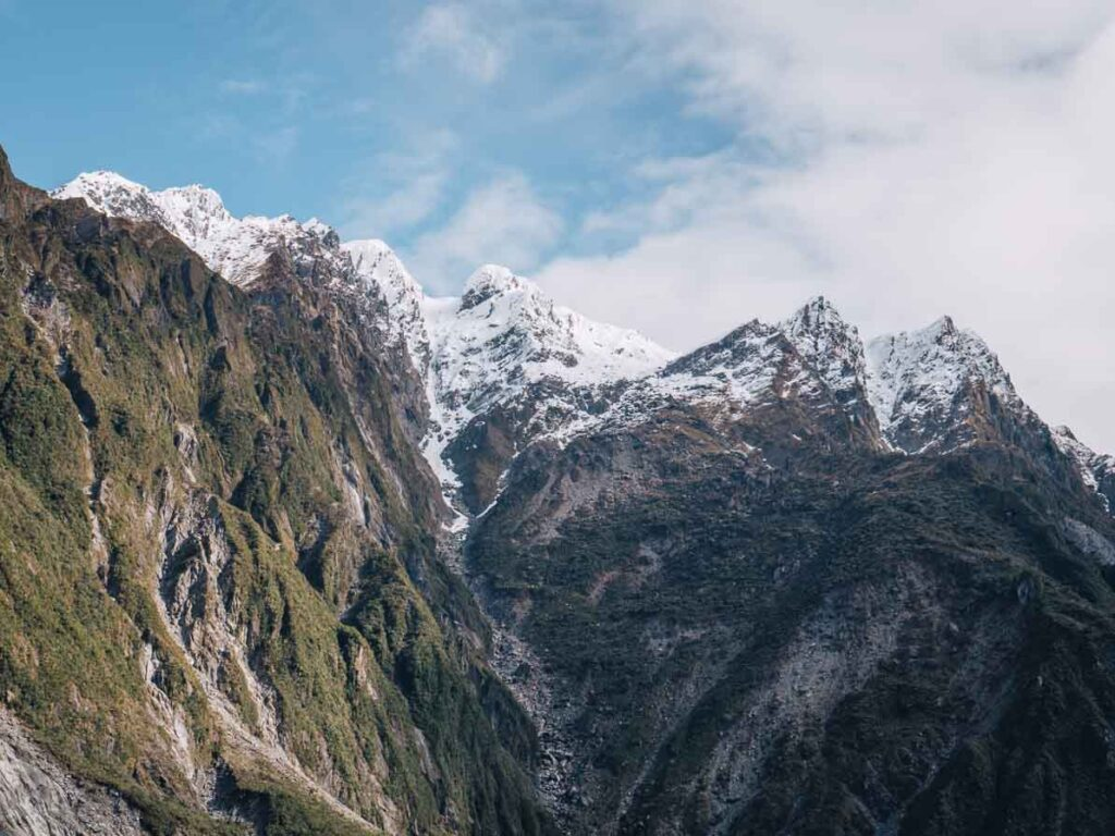 mountains from franz josef glacier things to do