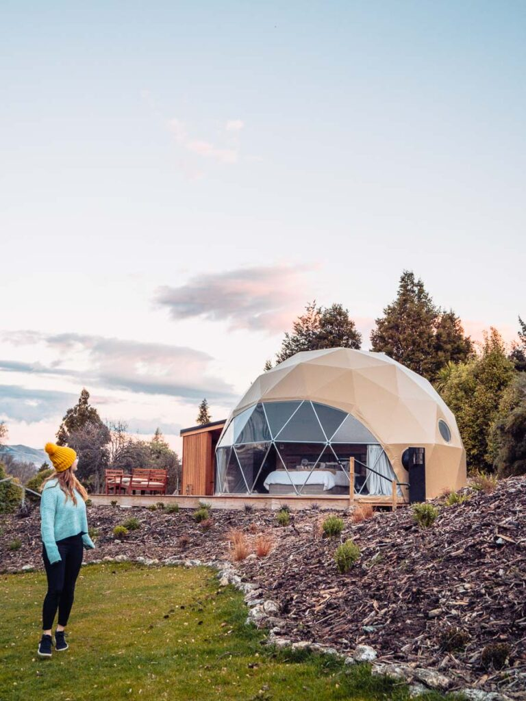 cross hill dome glamping in wanaka